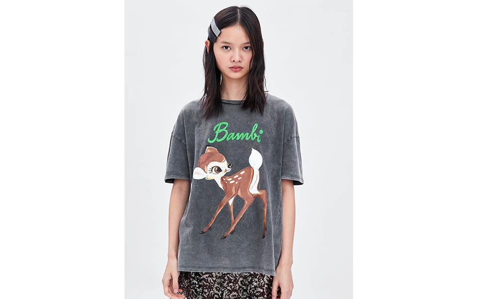tee shirt femme bambi zara