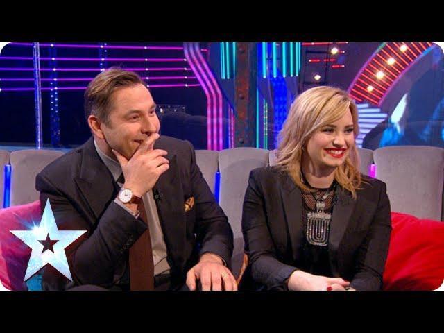 Demi Lovato and David Walliams compare notes on Simon   Semi-Final 3   Britain's Got Talent 2013