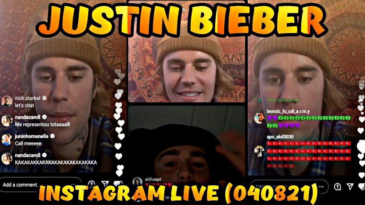 JUSTIN BIEBER INSTAGRAM LIVE FULL VIDEO   APRIL 8, 2021