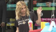 Ashley Benson Sips Slurpee