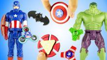 11 Hand Spinner Super Héros Fidget Finger Rare Captain America Iron Man SpiderMan Jouet Toy Review