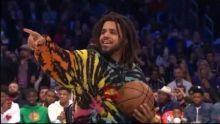 Dennis Smith Jr Dunks Over J Cole | NBA Dunk Contest 2019