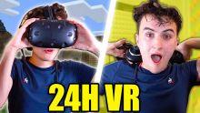 JE RESTE 24H EN VR (Dormir dans Minecraft VR feat. FastGoodCuisine)