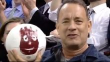 Tom Hanks Reunites with His 'Cast Away' Co-star, Wilson the Volleyball