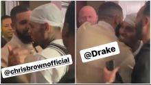 """Chris Brown & Drake Spotted Together At The Crew League """"Goats"""""""