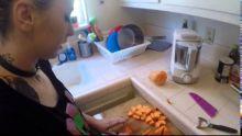Sweg Mom Vlog: Making your own baby food! Sweet Potato!