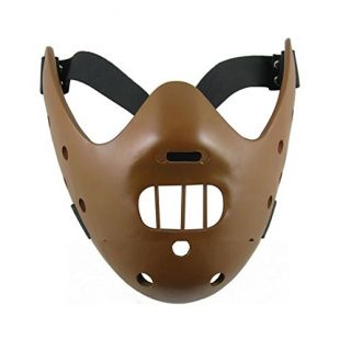 Halloween Masque Adultes Résine Face Lecter Masque Carnaval Cosplay Costume Prop