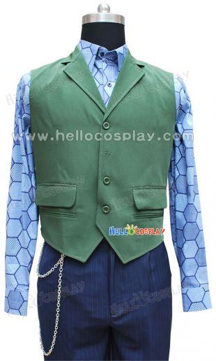 Gilet vert et Bleu Hexagone Chemise H008