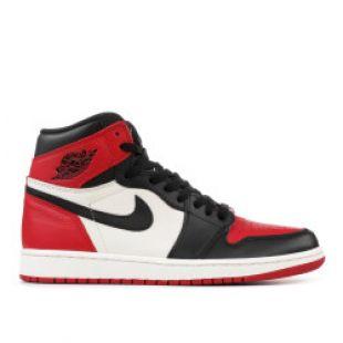 "Air Jordan 1 Retro High Og ""bred Toe""   Air Jordan   555088 610   gym red/black summit white | Flight Club"