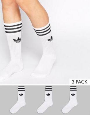 Adidas Originals   Chaussettes unies at asos.com
