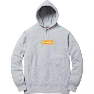 Supreme Box Logo Hooded Sweatshirt (FW17) Heather Grey