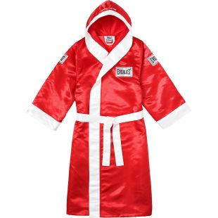 Supreme Everlast Satin Hooded Boxing Robe Red