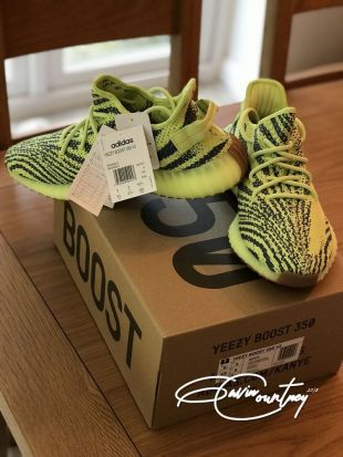 Adidas Yeezy Boost 350 V2 Semi Frozen Yellow 'Yebra' UK 9 / US 9.5   eBay
