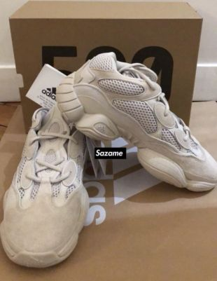 the best attitude b4357 f00fc The white sneakers Adidas Yeezy 500 on the post Instagram of ...