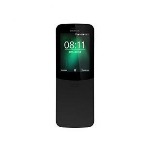 Nokia 8110 - Téléphone portable débloqué 4G (Ecran 2,4 pouces, ROM 32Go, Double SIM Appareil photo 2MP) Noir