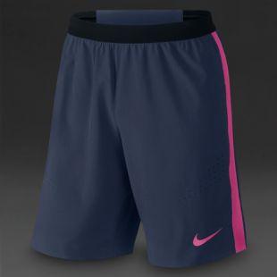 Nike Strike Stretch Longer Woven Shorts   Mens Clothing   Midnight Navy/Vivid Pink/Vivid Pink