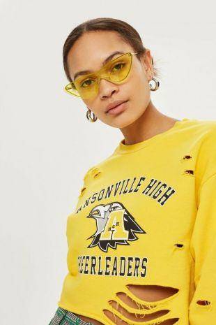 Distressed Cheer Sweatshirt by Tee & Cake