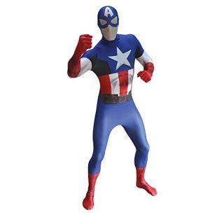Déguisement officiel Morpsuits Captain America - size Large - 5'5-5'9 (163cm-175cm)