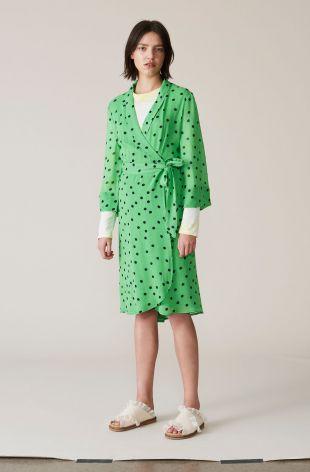 Dainty Georgette Wrap Dress