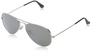 Ray-Ban - Lunette de soleil RB3025-W3275 Large Metal Aviator RB 3025 W3275 Aviator, Silver (Silber)