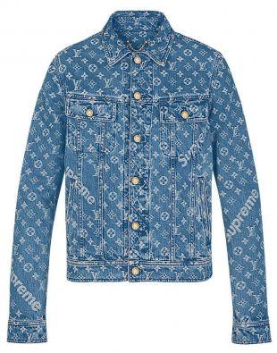 Louis Vuitton | Supreme Denim Monogram Jacket | 56  | eBay