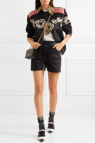 Prada - Printed denim shorts