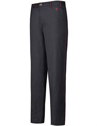 Lesmart Pantalon Golf Homme Chino Stretch Coupe Droite Long Casual Regular FR 52=US 42W/32L Noir