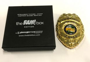 ***BAM BOX EXCLUSIVE STRANGER THINGS HOPPER HAWKINS POLICE CHIEF PROP BADGE*** | eBay