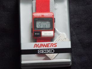 RARE Seiko Vintage Digital Watch Runners Alien S229-5000 NOS Pulse Meter ALIENS