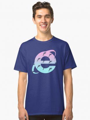 'Vaporwave | Dauphins | Internet Explorer | HAUTE QUALITÉ! | NOUVEAU!' T shirt classique by Bod64k