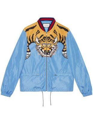 The Jacket Gucci Print Tiger Lil Pump In Her Video Clip