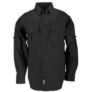 5.11 Tactical Tactical Long-Sleeve Shirt, Black, X-Small