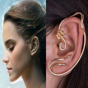 Beauty and the Beast Boucles d/'oreilles Belle//Emma Watson manchette or rose clous bijoux