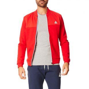 Le Coq Sportif Sweat zippé   rouge | BrandAlley