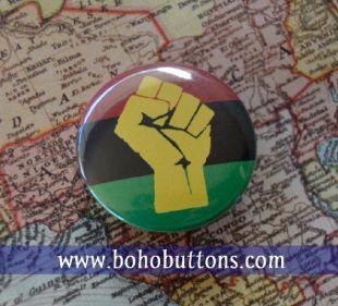 Pan badge drapeau africain, Magnet, Badge, bouton drapeau en Afrique, vie noir matière Pin voyageur BLM soulevé poing porte clé noir fierté