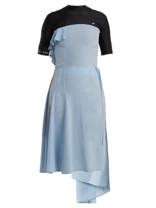 Asymmetric hem open back dress | Marine Serre | MATCHESFASHION.COM FR
