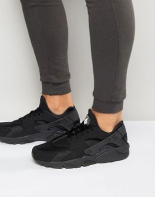 Nike   Air Huarache 318429 003   Baskets   Noir at asos.com