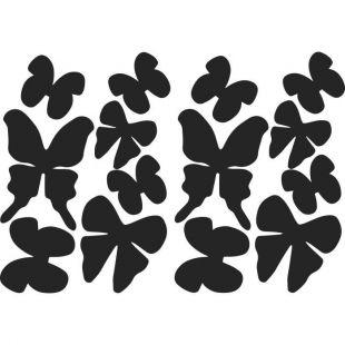 Sticker déco Papillons 3D Cilaos PVC Noir