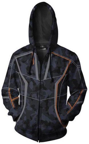 Avengers Infinity War 2018 Tony Stark RDJ Camouflage Men's Hoodie Black Jacket   eBay