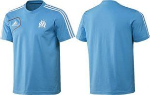 adidas Om Olympique T-Shirt Manches Courtes, w38149, Couleur: Thé omblue/WHT Taille M, 48, D5