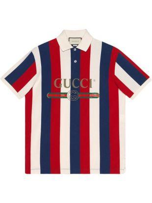 Gucci Polo à Logo Et Rayures