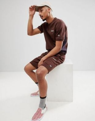 Champion x Wood Wood   Boredom   Sweat shirt manches courtes   Marron at asos.com