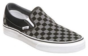 Mens Vans Vans Classic Slip On BLACK PEWTER CHECK Trainers Shoes | eBay