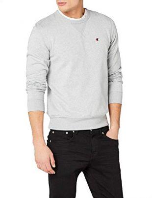 Champion Crewneck Sweatshirt - C-logo Sweat-shirt Homme Gris (Zgryj) XX-Large (Taille fabricant:XXL)
