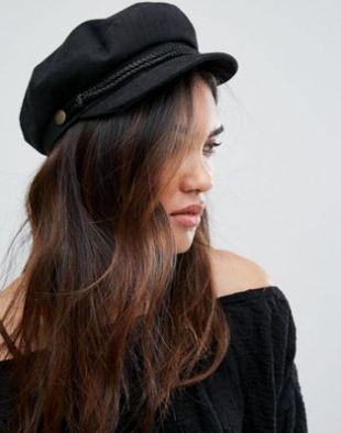 Brixton Baker Boy Hat in Black at asos.com