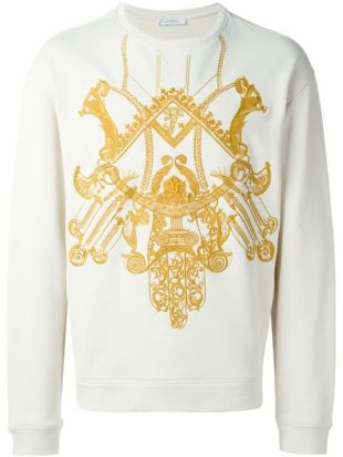 Versace Collection embroidered sweatshirt
