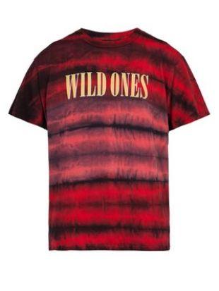 Wild Ones tie dye cotton T shirt   Amiri