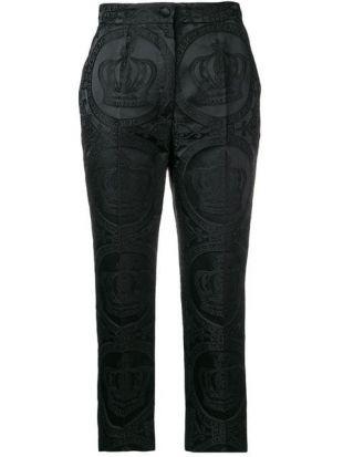 Dolce & Gabbana Logo Print Cropped Trousers   Farfetch