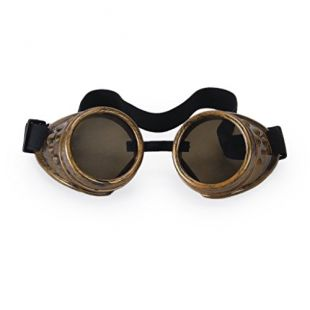 TOOGOO(R) Lunettes de Protection de Style Antique Steampunk Gothique pour Cosplay Photos Deguisement