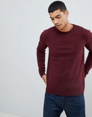Pull&Bear   Join Life   Pull en maille   Bordeaux at asos.com